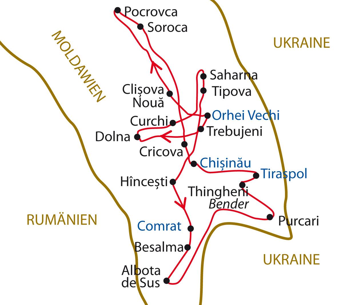 Moldawien Karte.Moldawien Transnistrien Entdeckungen Gespräche Im Weinland